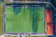 Empty football ground and tennis courts, top view - STSF01489