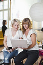 Businesswomen using laptop in office - MASF05209