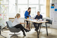Business people during meeting in creative office - MASF05766