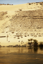 Scenic view of Nile river against sand dune at Aswan - CAVF44697