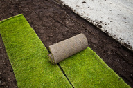 New grass turfs in formal garden - MASF06159