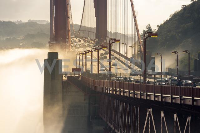 USA, California, San Francisco, Golden Gate Bridge and fog - MKFF00349