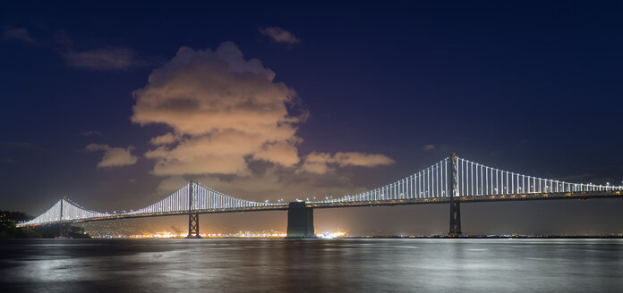 USA, California, San Francisco, Oakland Bay Bridge at night - MKFF00358