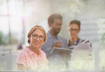 Portrait smiling, confident businesswoman - HOXF03423