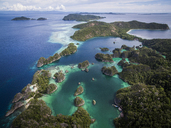 High angle idyllic view of Fam Islands against sky - CAVF47356