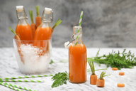 Refreshing carrot juice on marble - RTBF01192