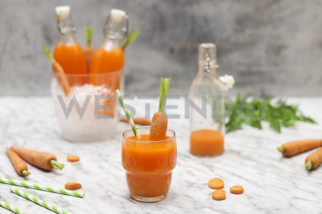 Refreshing carrot juice on marble - RTBF01195