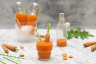 Refreshing carrot juice on marble - RTBF01195