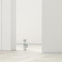 Robot in an empty room, 3d rendering - UWF01381