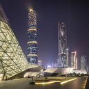 China, Guangzhou, opera house at night - SPP00010