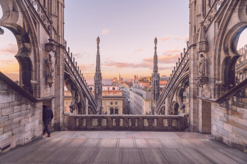 Italy, Lombardy, Milan, Milan Cathedral at sunset - TAM01044