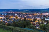 Switzerland, Canton of Schaffhausen, Stein am Rhein, Lake Constance, Rhine river, cityscape in the evening - WDF04612