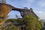 Czechia, Bohemian Switzerland, Elbe Sandstone Mountains, Pravcicka brana, natural sandstone arch - RUEF01852