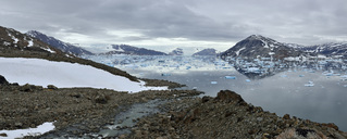 Greenland, East Greenland, Panoramic view of Johan Petersens Fjord - ESF01597