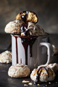 Russian Gingerbread in cup with chocolate sauce - CSF29084