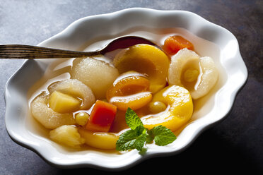 Preserved fruit salad in bowl - CSF29165