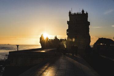 Portugal, Lisbon, Belem Tower at sunset - WPEF00218