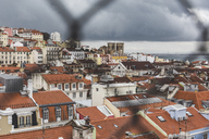 Portugal, Lisbon, cityview through fence - WPEF00221