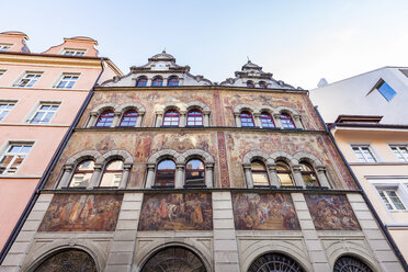 Germany, Constance, facade of townhall with fresco paintings - WDF04640