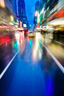 Night scene of 42nd Street near Times Sq - CUF00486