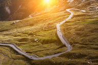 Aerial view of road in rural landscape - CUF00612