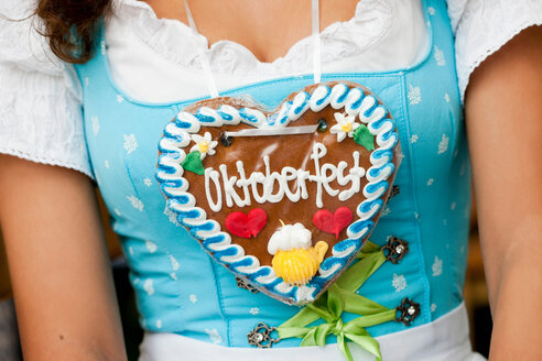 Young Woman Gingerbread Heart Close Up - CUF00805