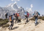 Nepal, Solo Khumbu, Everest, Mountaineers at Dingboche - ALRF01044