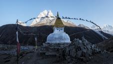Nepal, Solo Khumbu, Everest, Stupa of Dingboche - ALRF01065