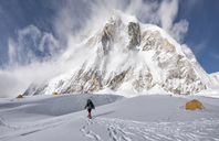 Nepal, Solo Khumbu, Everest, Mountaineer at Western Cwm - ALRF01134