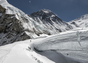 Nepal, Solo Khumbu, Everest, Mountaineer at Western Cwm - ALRF01143