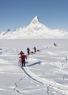 Greenland, Schweizerland Alps, Kulusuk, Tasiilaq, ski tourers - ALRF01216