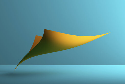 Abstract shape over blue background, 3D Rendering - DRBF00058