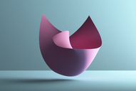 Abstract shape over blue background, 3D Rendering - DRBF00061