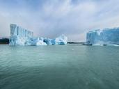 Argentina, Patagonia, El Calafate, Puerto Bandera, Lago Argentino, Parque Nacional Los Glaciares, Estancia Cristina, Spegazzini Glacier, iceberg - AMF05713