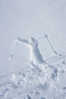 Skiers outline in the snow - CUF01624