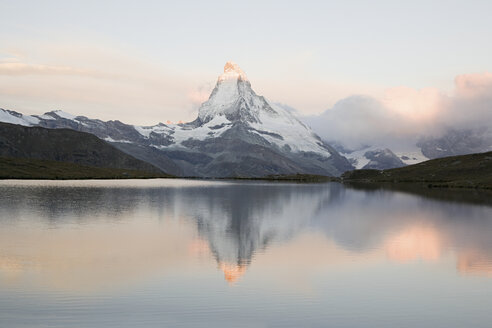 Matterhorn reflected in lake at sunset - ISF00204