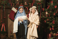 Children dressed as nativity characters - ISF00666