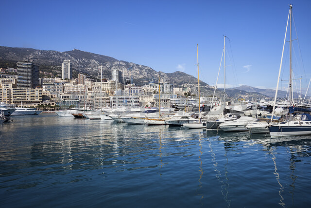 Monaco Monte Carlo skyline from the port - ABOF00335