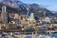 Principality of Monaco, Monaco, Monte Carlo, Cityscape at marina - ABOF00338