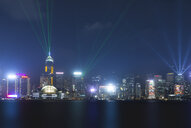China, Hong Kong, Central at night - MKFF00367