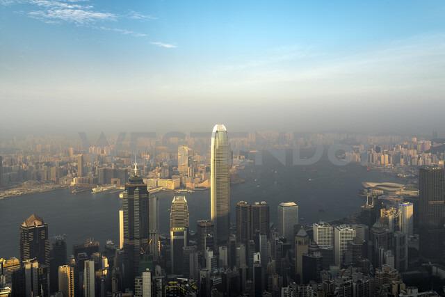 China, Hong Kong, skyline in the evening - MKFF00379