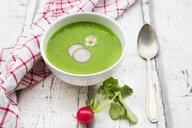 Organic radish green soup - LVF06953