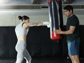 Boxer training in gym - CUF03145