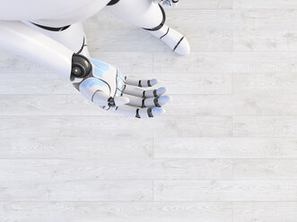 Hand of a robot, 3d rendering - AHUF00496