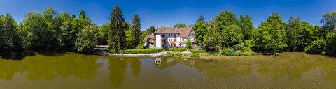 Germany, Hesse, Dreieich, Old mill with pond - AMF05721