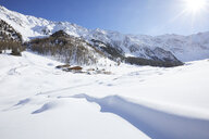 Austria, Tyrol, Kuehtai, winter landscape in backlight - CVF00497
