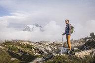 Hiker on Mount Baker, Washington, USA - CUF05182