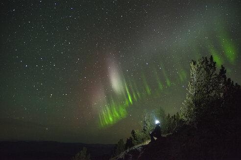 Auroral arc, Nickel Plate Provincial Park, Penticton, British Columbia, Canada - ISF01363