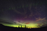 Northern lights, auroral arc, Nickel Plate Provincial Park, Penticton, British Columbia, Canada - ISF01366