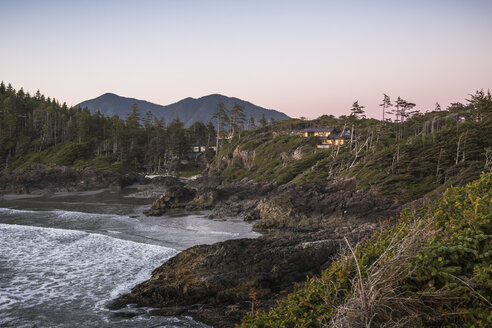 Landscape over Long Beach, Pacific Rim National Park, Vancouver Island, British Columbia, Canada - CUF06213